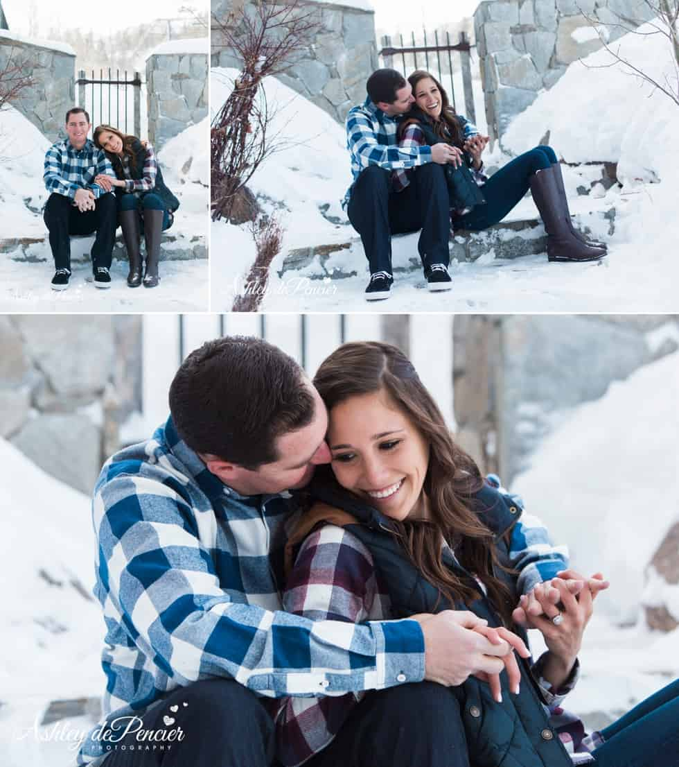 Mammoth winter engagement session 1