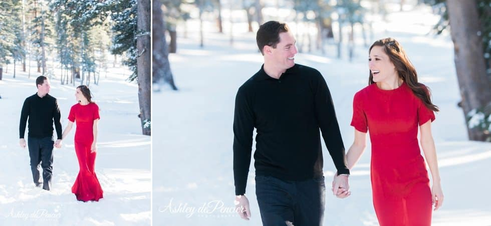 Mammoth winter engagement session 7