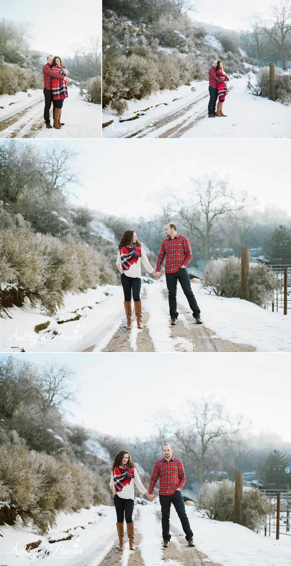 California winter snow engagement 10