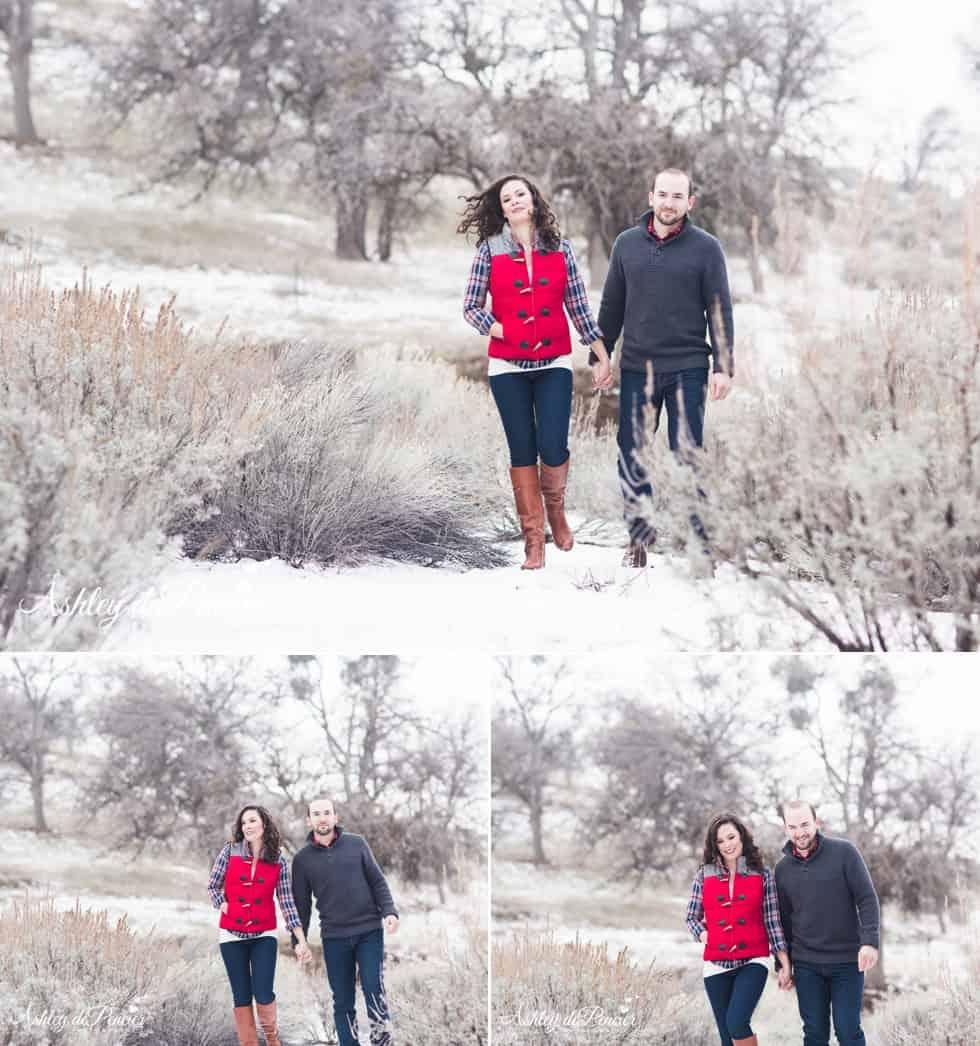 California winter snow engagement 2