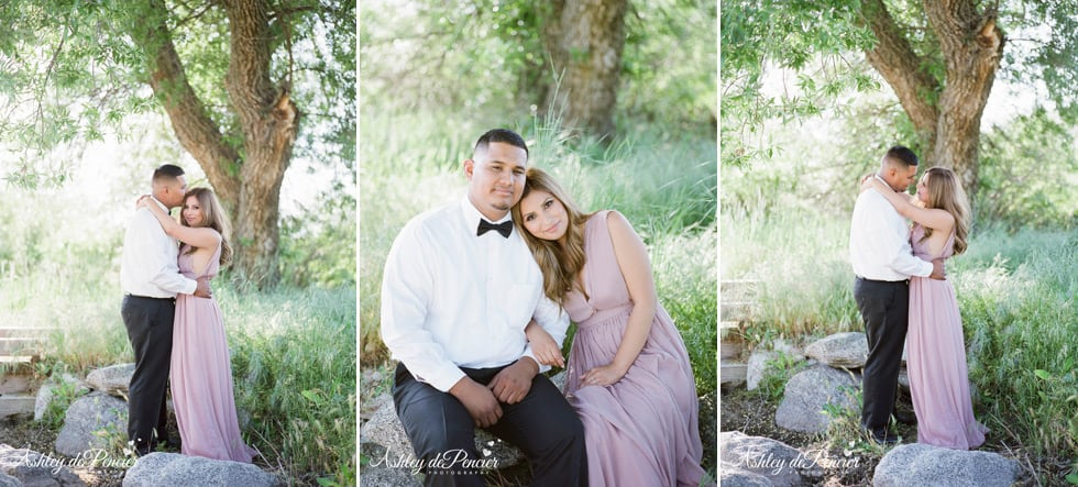 Outdoor Engagement Portraits at Bear Lake California