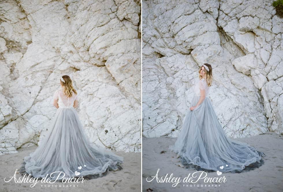 Bridal portraits at the beach
