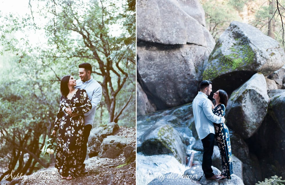 Outdoor engagement portraits in California