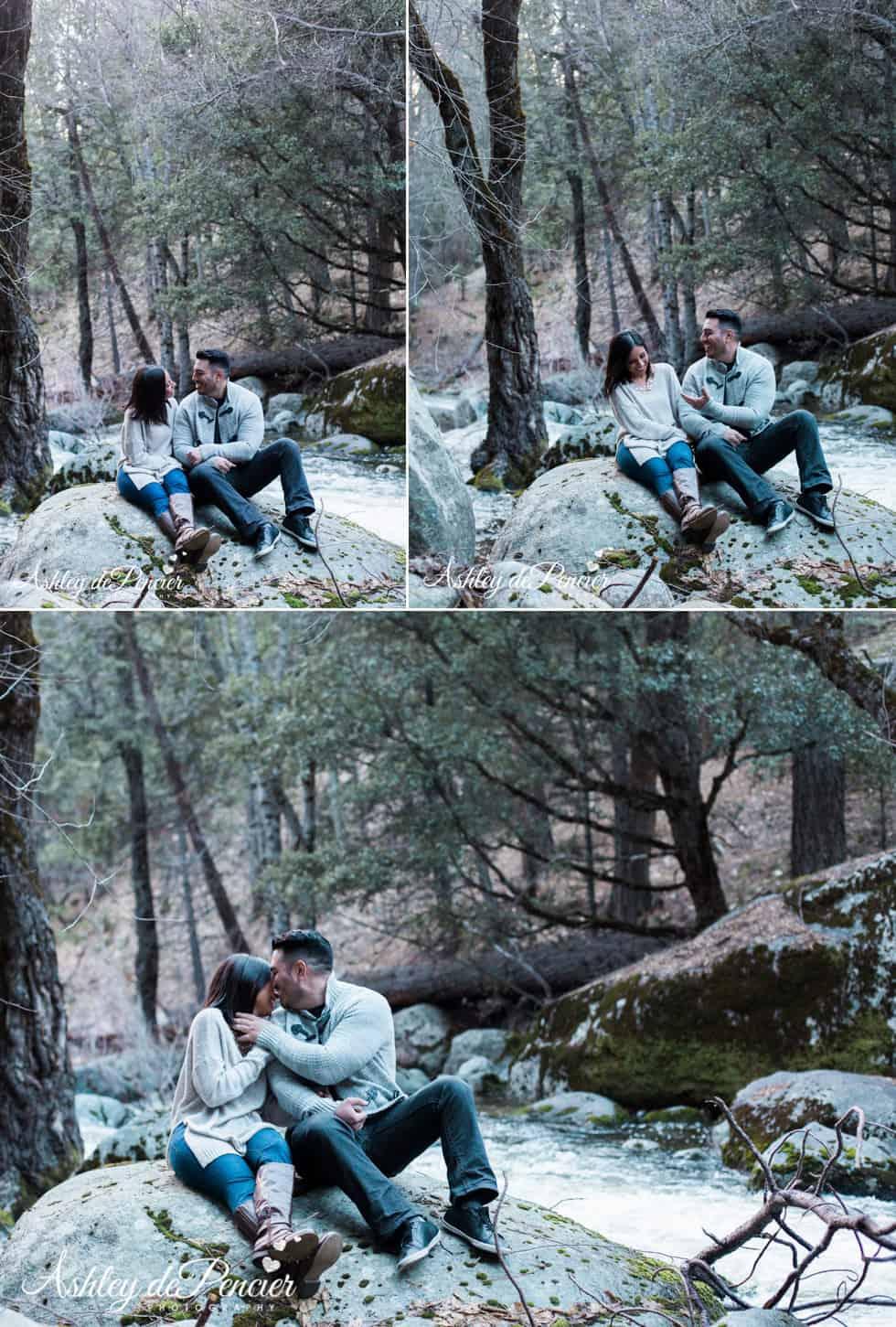Outdoorsy engagement portraits