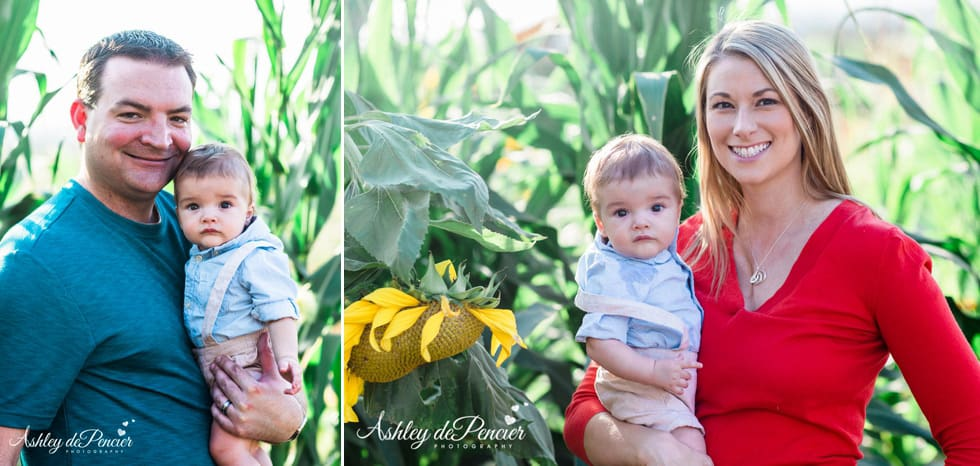 Fall family portraits in central California