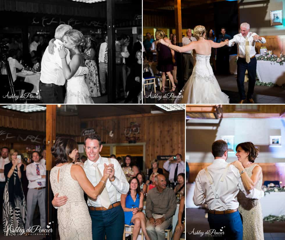 Couples dancing at a wedding reception