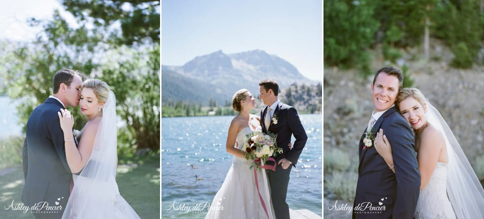 Outdoor wedding portraits by June Lake