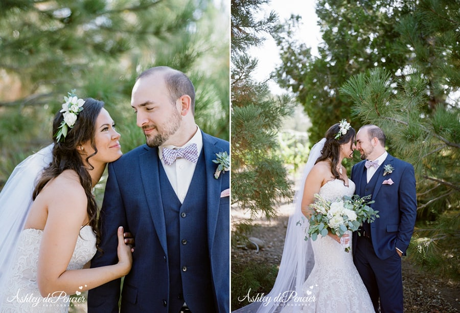 Portraits of a bride and a groom
