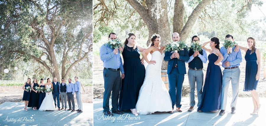 Outdoor family wedding portraits