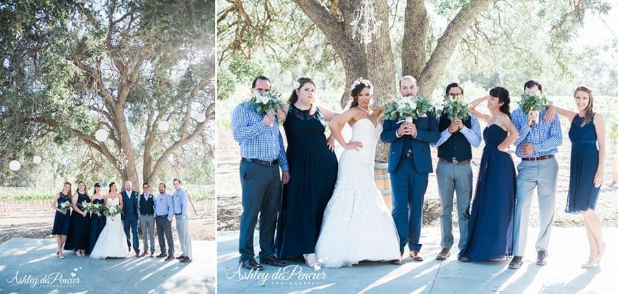 Outdoor family wedding portraits