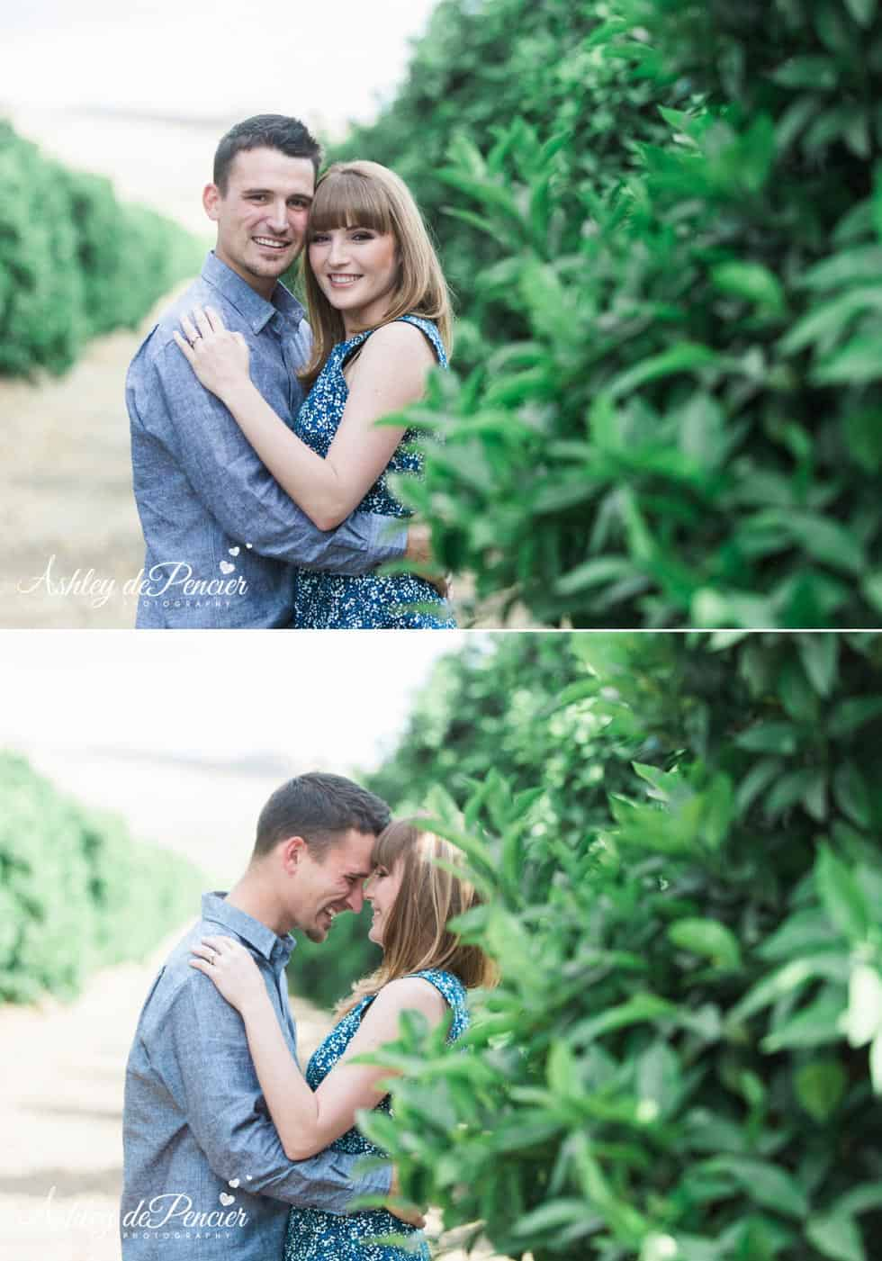 Engagement session in Orange Grove, California
