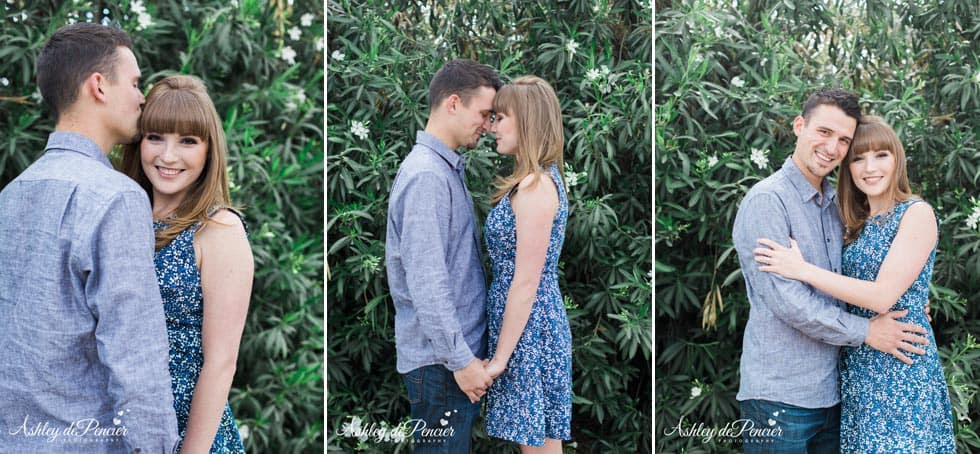 romantic outdoor engagement portraits